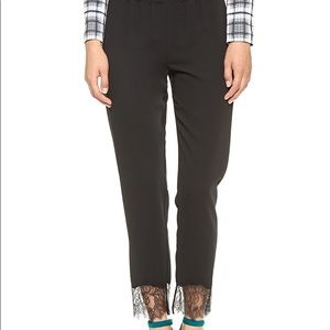 Clover Canyon Black Lace Trim Pants